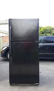 Black GE Refrigerator, free delivery