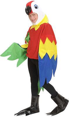 Bunter Papagei Kostüm für Kinder NEU - Mädchen Karneval Fasching Verkleidung Kos