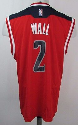 Washington Wizards Mens M L  2 John Wall Replica Jersey Nba Adidas Red A14