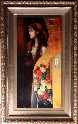 """Manaz """"simone""""hand Embellished Giclee On Canvas With Custom Framesigned Numbered"""