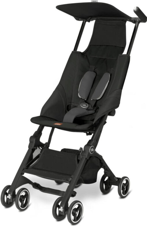 Goodbaby GB Pockit Compact Folding Traveling Baby Stroller - Monument Black