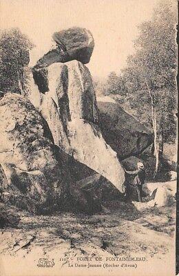 Postal- Bosque de Fontainebleau - la Damajuana - Roca Avon segunda mano  Embacar hacia Argentina