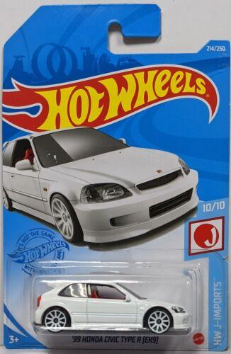 2021 HOT WHEELS #214 - '99 Honda Civic Type R EK9 (White - Case M) NEW!