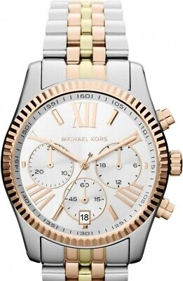 *NEW* MICHAEL KORS MK5735 Lexington Tri Tone Women's Watch