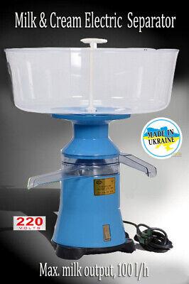 New Milk Cream Electric Centrifugal Separator Plastic 100lh Motorsich Ukraine