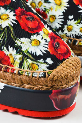New with box Dolce & Gabbana Canvas Floral Platform Espadrilles Size 8.5 $665.00