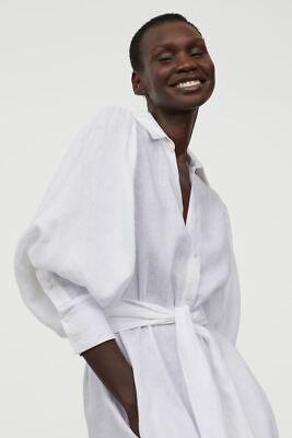 COMPLETELY SOLD OUT Johanna Ortiz White Linen Shirt Dress