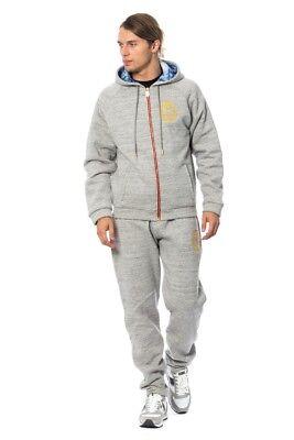 NEW $1300 BILLIONAIRE COUTURE Tracksuit Gray Cotton Sweater Pants Set s. XL