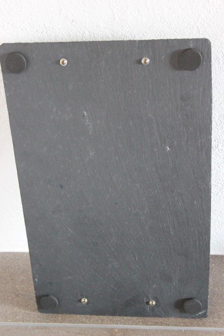 Tablett servierplatte aus schieferplatte mit griffen40 x for Schiefer platte