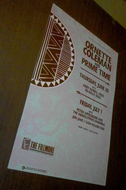 Ornette Coleman Concert Poster - June 30, 1988