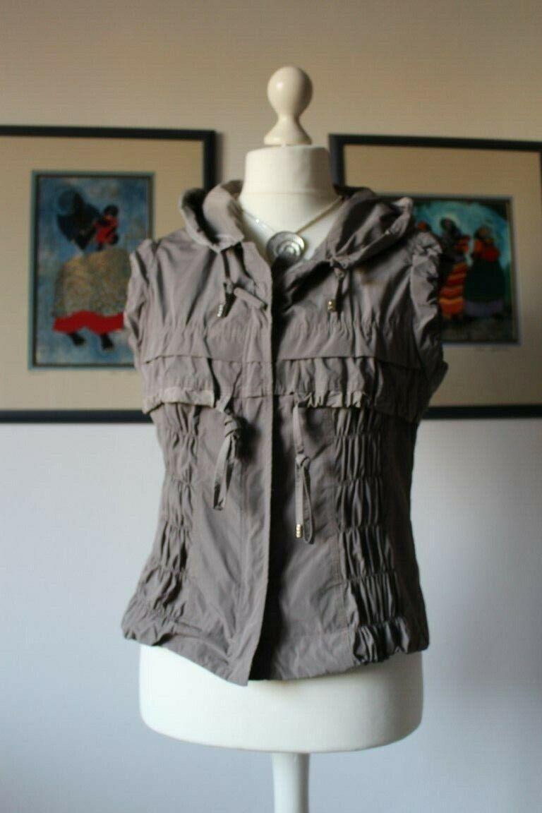 Damen Weste Boutiqueware Grau mit Kapuze Größe 40 Neuwertig