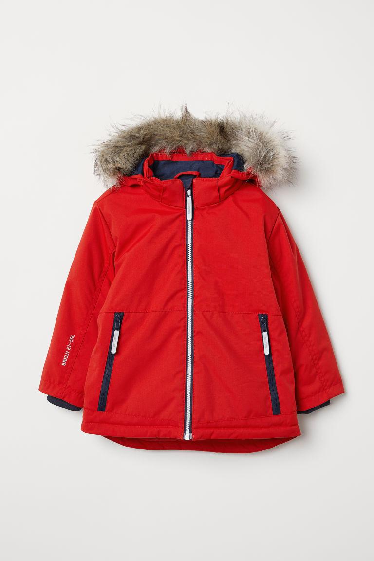H&M Wattierte Outdoor/Winter/Skijacke Rot Jungen Gr. 134, NEU