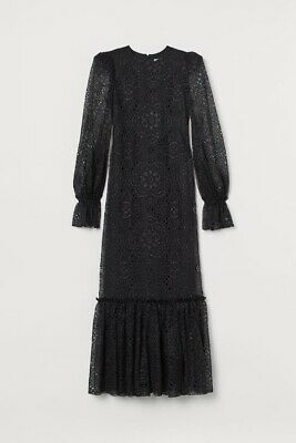 The Vampire's Wife Night Whisper Dress S NWT Sold Out Maxi Black Lace Bow Goth