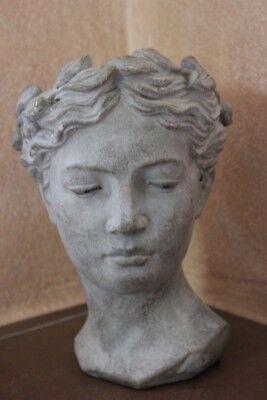 , Frauenfigur, Frauenbüste z.Bepflanzen, H 27 cm, Keramikbüste (Große Frauen)