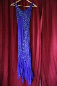 WORN ONCE Size 8 Beaded Bodice Dress with Scarf Officer Cardinia Area Preview