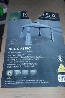 Brand New in Box Mimosa Nile 3mX3m Gazebo from Bunnings, Grey.