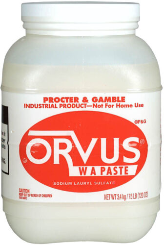 ORVUS PASTE SHAMPOO Effective Wide Range Cleaning Livestock Fabrics 7.5lb Tub