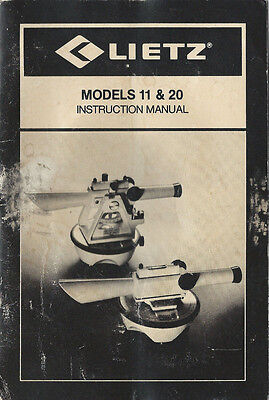 Lietz Telescope Models 11 20 Instruction Manual