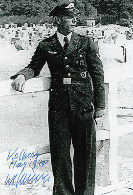 Luftwaffe first and only JET BOMBER Kriessmann Arado Ar234 Pilot SIGNED PHOTO