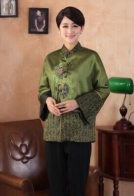 Chinese Traditional Jacket Women Silk Satin Coat Plus Size M-3XL