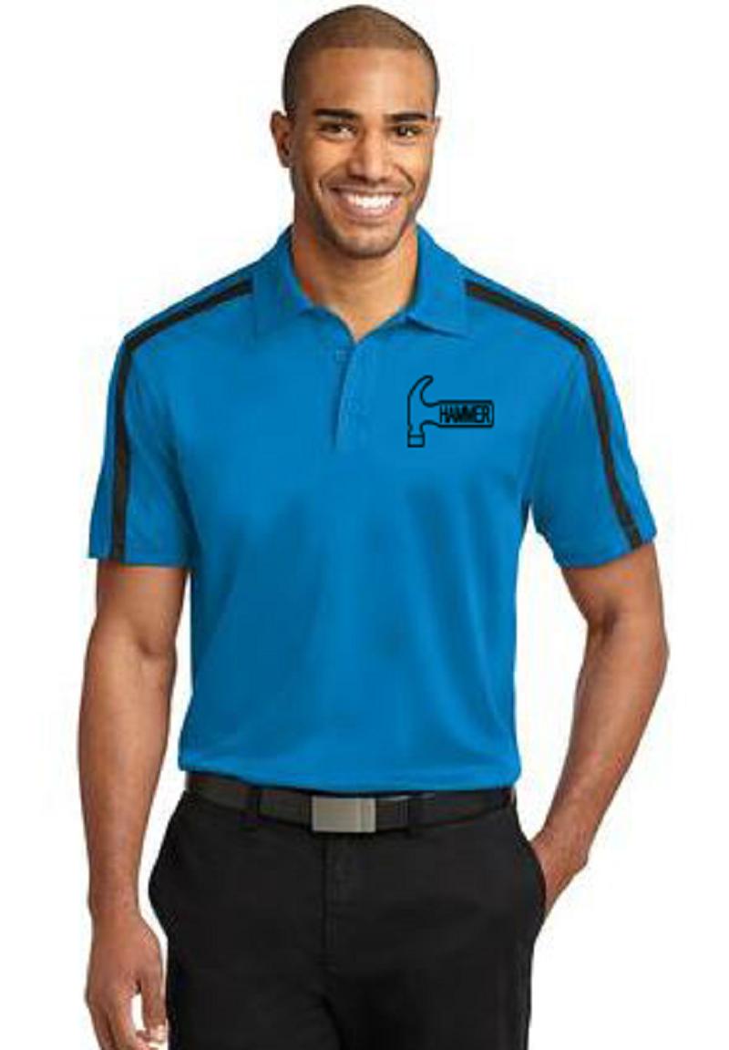 Hammer Men's Rhythm Performance Polo Bowling Shirt Dri Fit Brilliant Blue