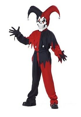 California Costumes Evil Jester Child 2 Sizes Costume Red Black