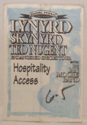 LYNYRD SKYNYRD / TED NUGENT / IAN MOORE - VINTAGE ORIGINAL CLOTH BACKSTAGE PASS