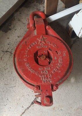 Boston Lockport 12 Inch 3 Sheave Snatch Block Pulley