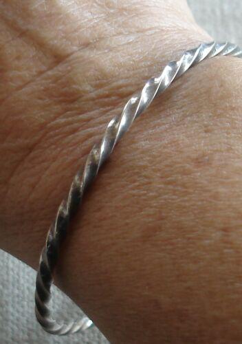 Vintage Native American Sterling Silver Twist Stacking Bangle Bracelet 14.5 gram