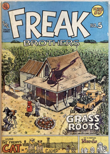 The Fabulous Furry Freak Brothers #5 (Rip Off Press) 75 cent cover. 1st print