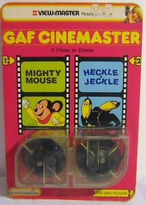 VIEW MASTER ROLL A SHOW 70'S GAF DOUBLE CARD MIGHTY MOUSE HECKLE & JECKLE NEW