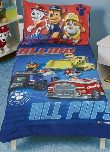 Paw Patrol 4-Piece Toddler Bedding Set - Includes Quilted Comforter, Sheet Set