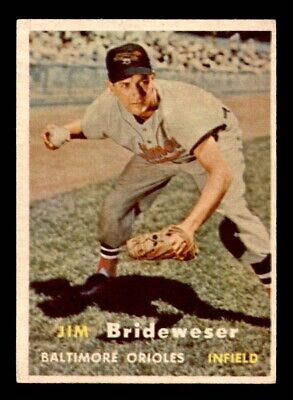 1957 Topps #382 Jim Brideweser EX/MT