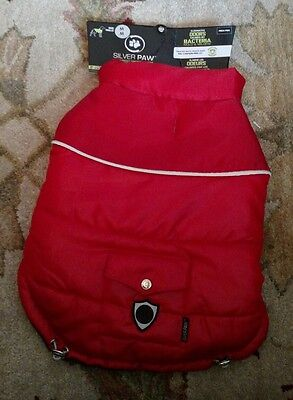 Silver Paw Dog coat jacket red Eliminates Odors caused by bacteria - Medium