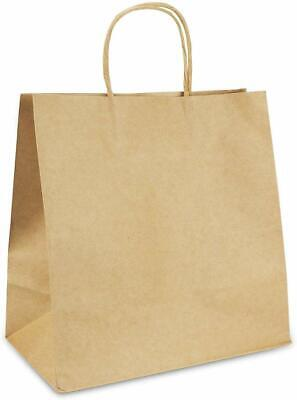Paper Shopping Bags With Handles (Brown Kraft Paper Bag Shopping Gift Bags with Handles 4 Size)