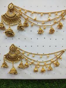 Indian pakistani ladies Jewellery necklace earring tikka
