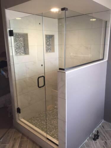 """3/8"""" Frameless Glass Door, Panel, and Return"""