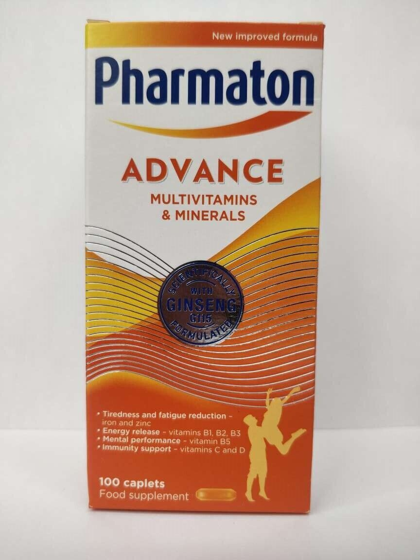 Pharmaton Capsules 100Capsules/30Capsules (containing Unique Ginseng G115) 1