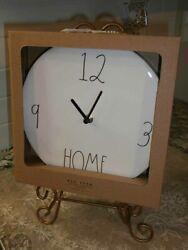 NEW Rae Dunn Ceramic 9 Wall Clock HTF 12 3 HOME 9
