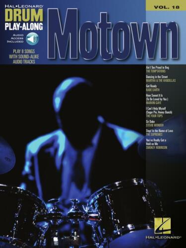 Motown Drum Play-Along Book and Audio NEW 000700274