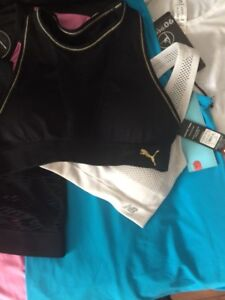 WOMENS SPORTS BRAS AND SHIRTS
