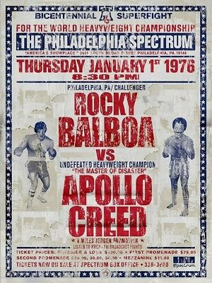 Rocky Balboa VS Apollo Creed Bicentennial Superfight Poster/Print > Stallone