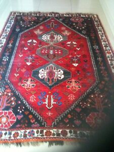 Persian hand knotted woollen tribal rug Craigburn Farm Mitcham Area Preview