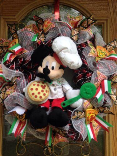 Pizza Chef Mickey Wreath, Disney Kitchen Decor