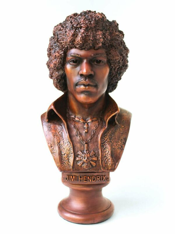Purple Galaxy Jimi Hendrix Authorized Statuette Bust - JHBUST8