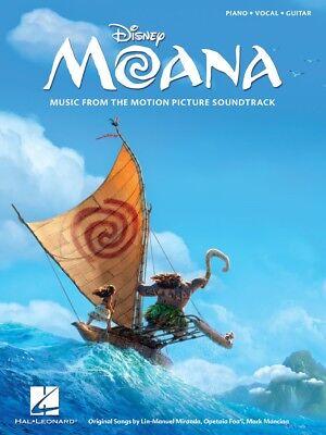 Moana Disney Movie Soundtrack Piano Vocal Guitar Sheet Music Song Book