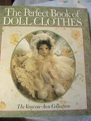 PERFECT BOOK OF DOLL CLOTHES~Vanessa-Ann clothing RARE HC 1991 vintage patterns