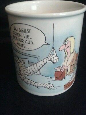 """Kultig & Wtzig Uli Stein Tasse Kaffeebecher """"GUTE BESSERUNG"""""""