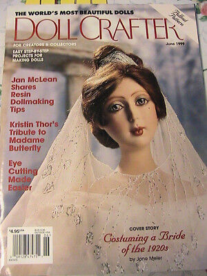 DOLL CRAFTER June 1999~doll projects~for creators & collectors magazine