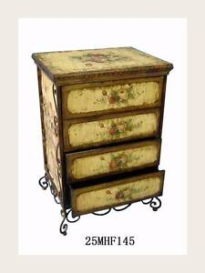 French Style Hand Painted Bedside Table With Four Drawers Westmead Parramatta Area Preview